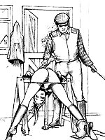 Spanking and whipping in various poses