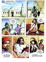 Colored porn comics 'Sexual Hostage In The Desert'
