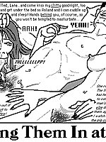 Illustrated story with sadistic sex scenes